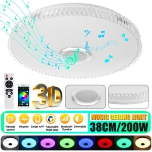 200W RGB LED Ceiling Lights Home lighting APP bluetooth Music Light Bedroom Lamps Smart Ceiling Lamp+Remote Control