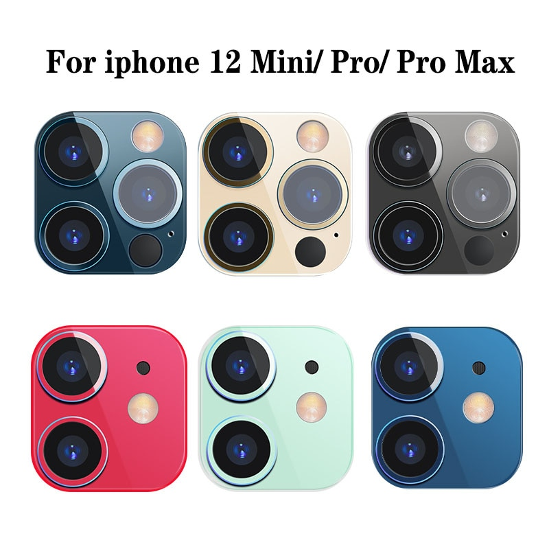 Metal Back Camera Lens Screen Protector for IPhone 12 Mini Pro Max Aluminum Alloy Ring Film for Ipho