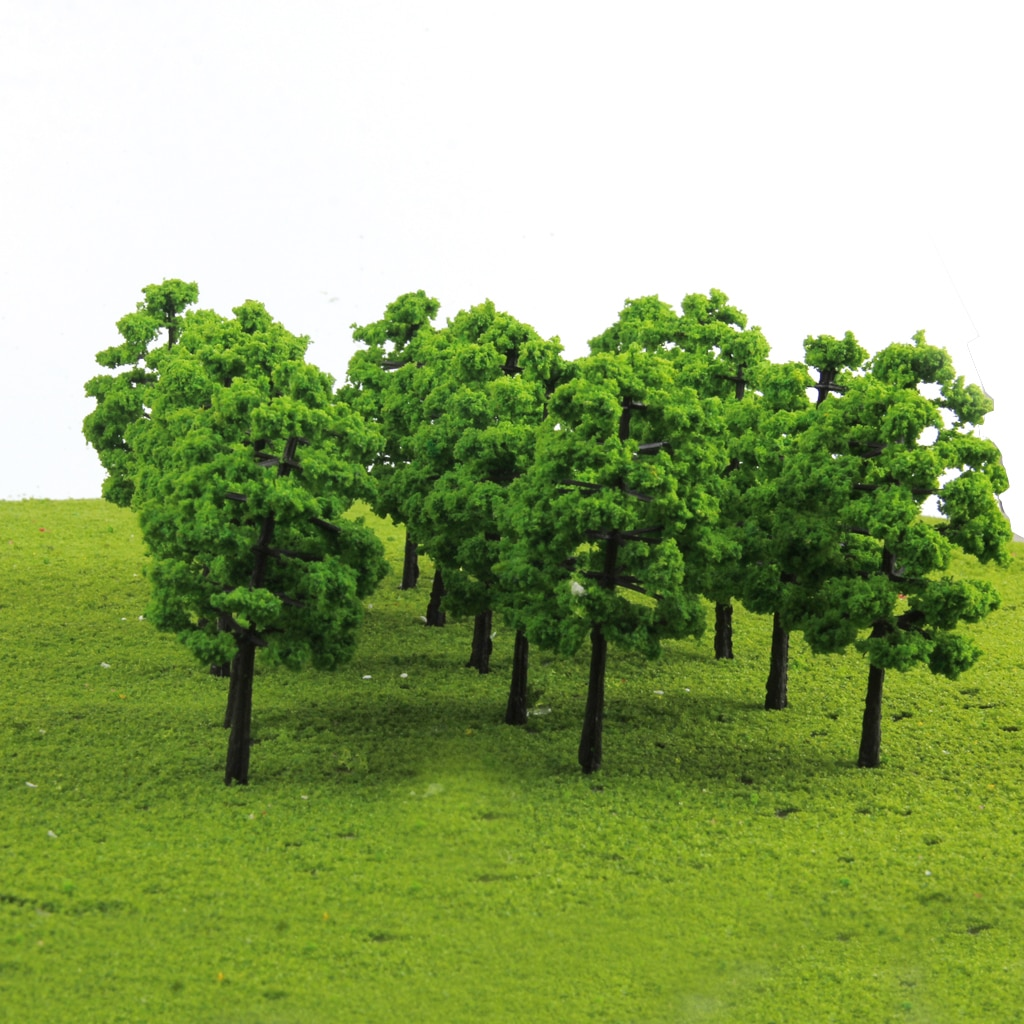 120pc HO Z 1: 100 Sacle Green Tree Model for The Street Layout of The Train