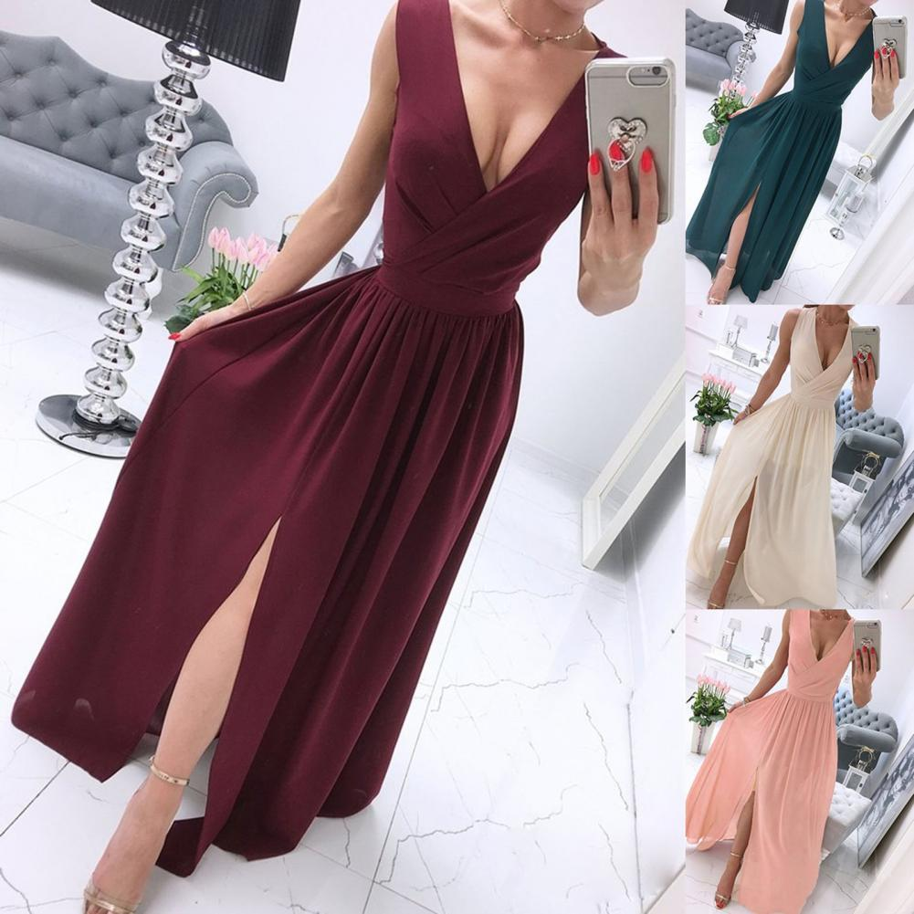 scoop neck sleeveless striped loose fitting dress for women Hot Sales!! Dress Loose Soft Polyester Sleeveless Deep V Neck Dress for Women
