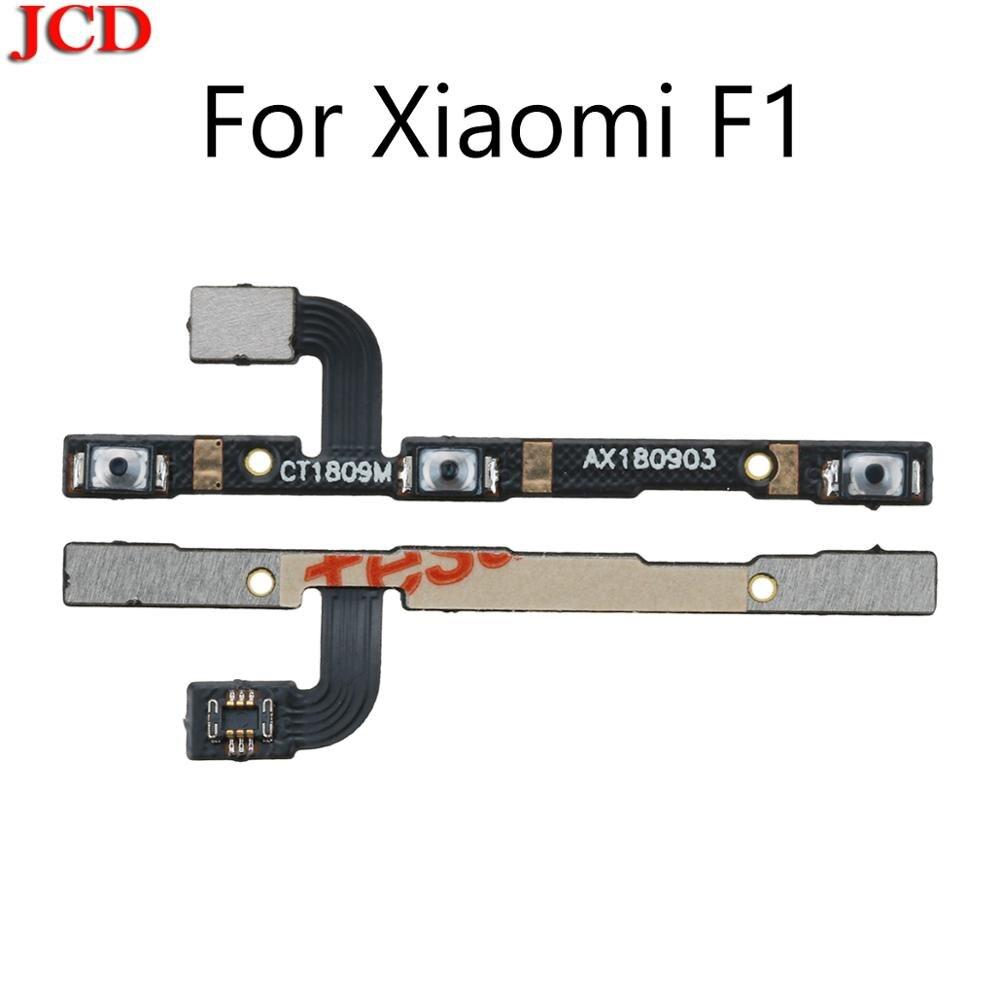 Гибкий кабель JCD для PocoPhone F1, кнопка регулировки громкости, кнопка включения и выключения питания, гибкий кабель для XiaoMi Mi F1