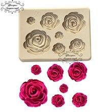 Yueyue Sugarcraft Rose fleur silicone moule fondant moule gâteau décoration outils chocolat confeitaria moule accessoires de cuisson