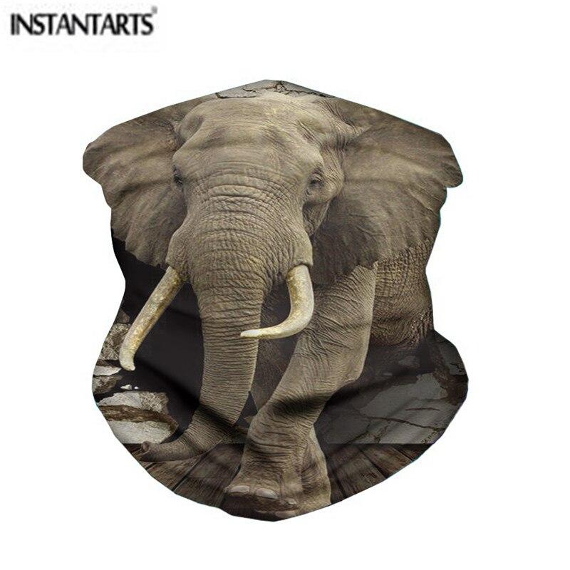 Instantáneo 3D Cool estampado de elefante conducción al aire libre cara ciclismo pañoleta de motocicleta para la cabeza cuello caliente deporte cara bufandas 2020