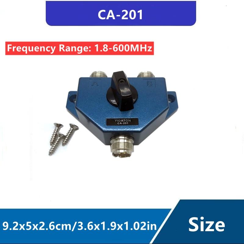 CA-201 Antenna Switcher UHF Manual Aerial Female Connector Adapter Converter CB Radio Antenna Coax Switch