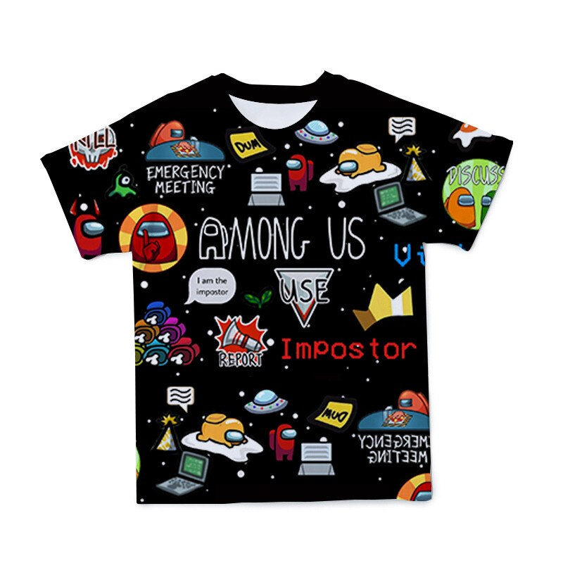2021Trend Most Popular  Among Us Games Summer Men/Women/Children 3D Streetwear Breathable Polyester T-Shirt O-Neck