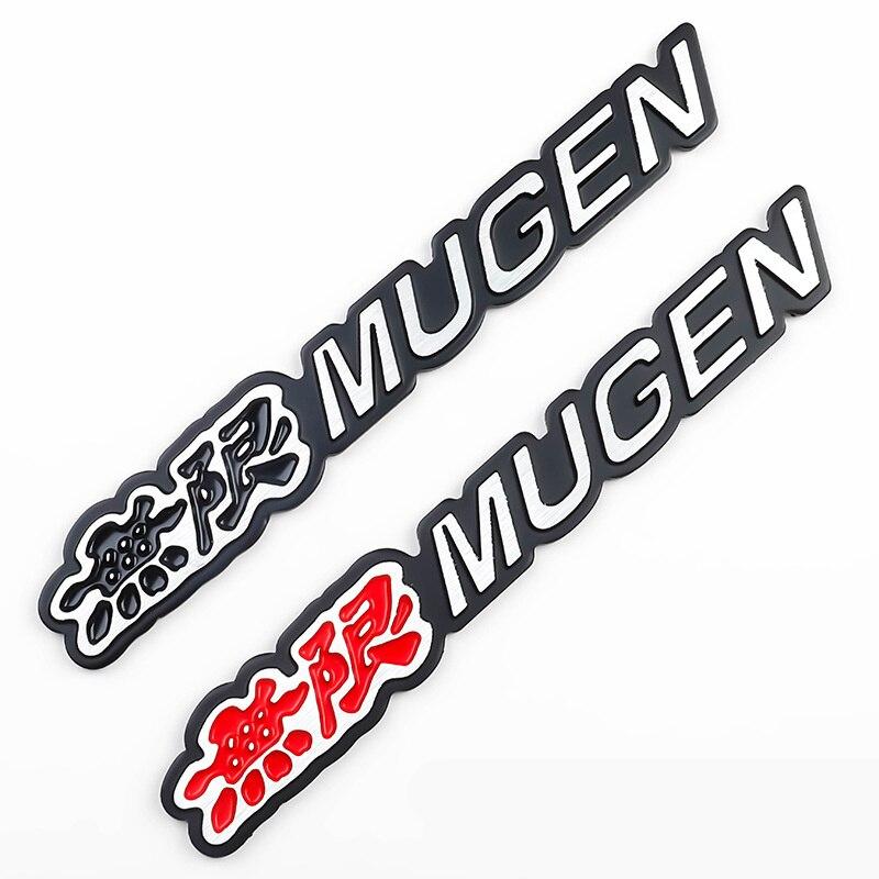 2019 3D Aluminum Mugen Emblem Chrome Logo Rear Badge Car Trunk Sticker For Honda Civic Accord CRV Car Styling