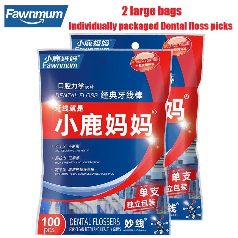 2 пакета, стоматологические зубочистки, гигиена полости рта