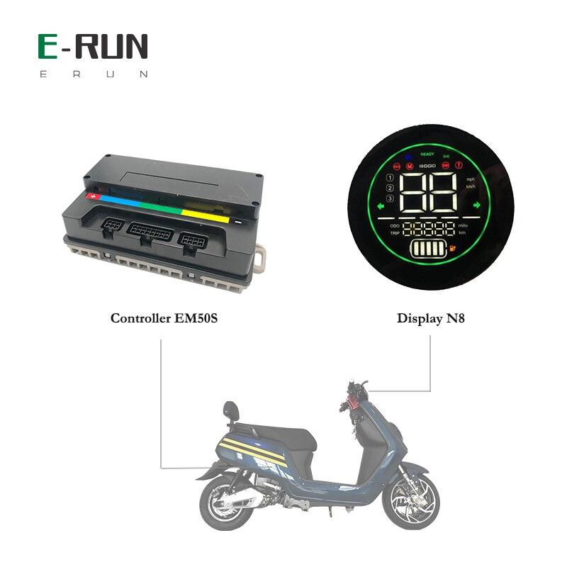 وحدة تحكم Votol 60A EM50S BLDC PMSM ، وحدة تحكم في المحرك بموجة جيبية مع شاشة N8 لـ QS Mid Drive 1kw