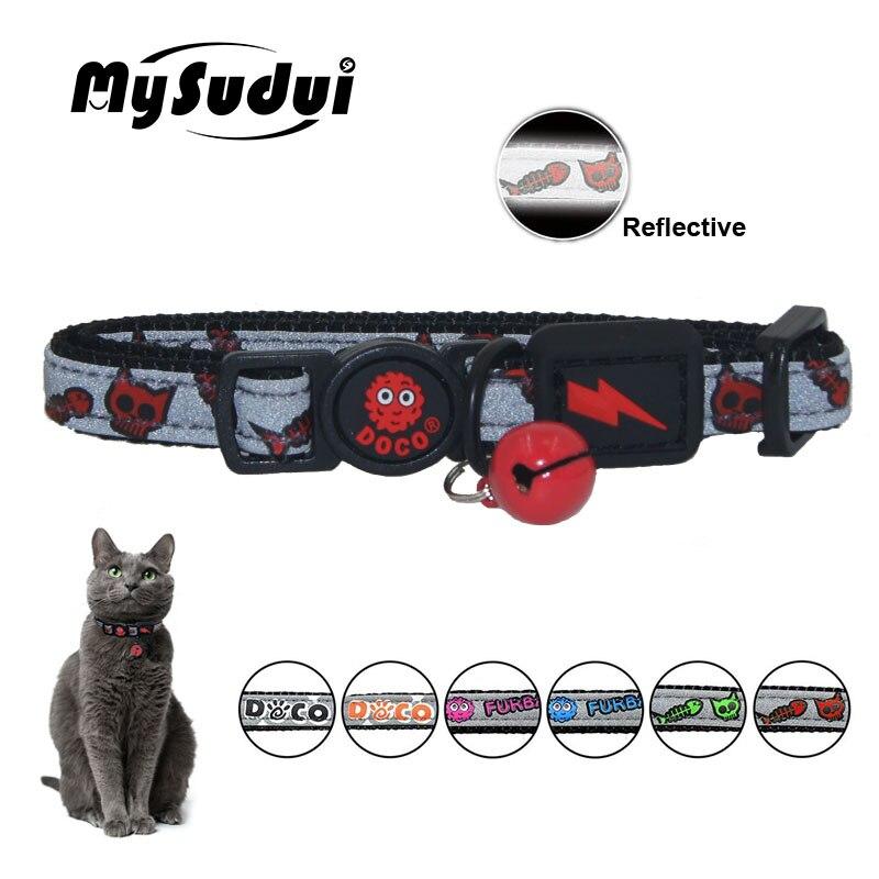 Mysudui Katze Kragen Abtrünnigen Mit Glocke Reflektierende Schutz Kragen Für Katzen Sicherheit Padded Einstellbare Kätzchen Kragen Halskette