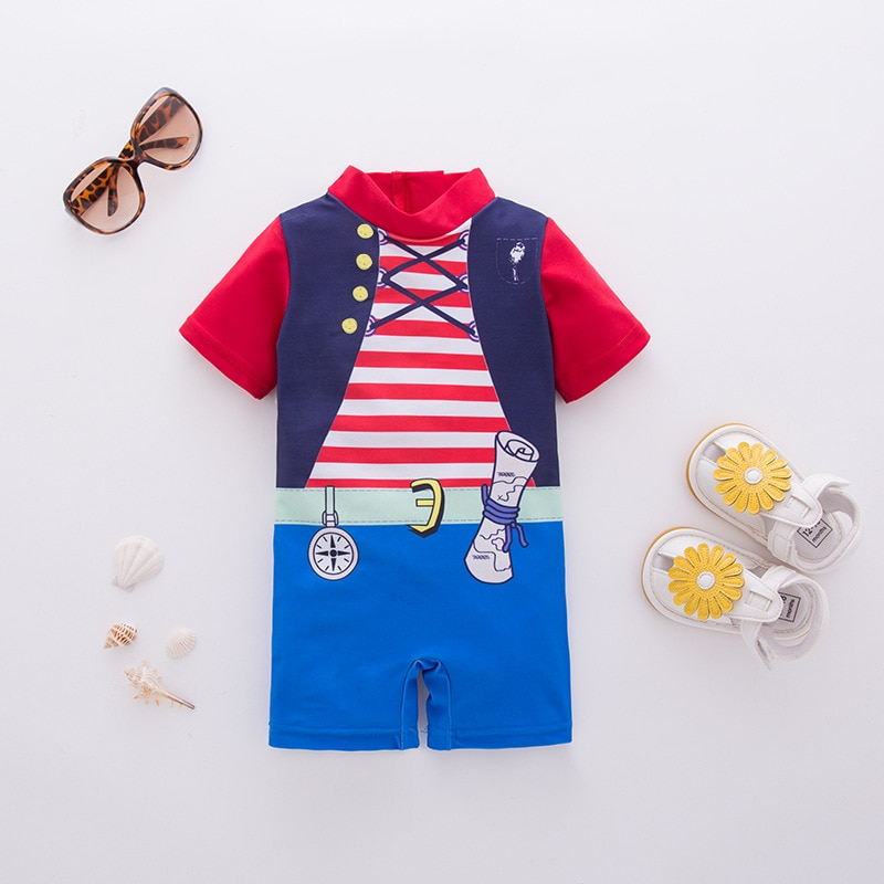 Infant Baby Movie Pirate Captain Role Play Outfit Boy Girl Birthday Party Dress Up Suit Romper Newbo