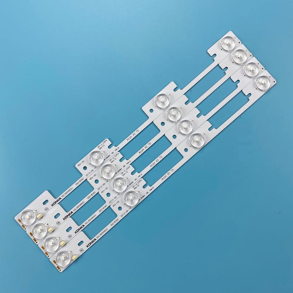 Nueva barra de retroiluminación LED para KONKA KDL39SS662U 35018339, 35018340 de 327mm 4 LED (LED 1 6V) Envío Gratis