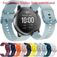 silicone watchband for xiaomi haylou solar sport bracelet for xiaomi mi watch smartwatch strap replacement accessories