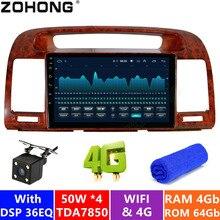4 + 64 gb dsp 36eq 4g android 9.0 para toyota camry v30 2002-2006 carro reprodutor multimídia autoradio carro gps navegação rádio dvd 2 din