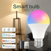 Ampoule intelligente Wifi 9W RGBCW a commande vocale  ampoule a gradation  fonctionne avec Alexa Google Home