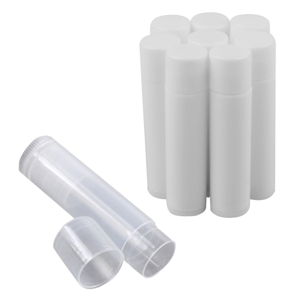 5 unids/lote envases de Tubos Bálsamo labial transparentes de plástico vacíos pintalabios modernos tubos de labios