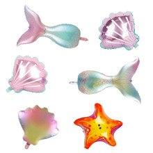 1 шт., вечерние товары с изображением русалки Ариэль, океана, хвоста русалки, воздушного шара, морских животных, вечерние Игрушки для девочек,...