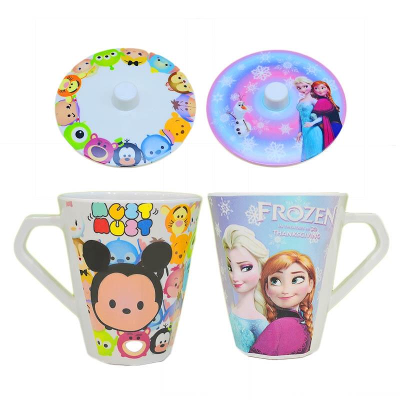Чашка с меламиновой ручкой Disney, креативная термостойкая детская чашка для полоскания рта с мультяшным рисунком, милый подарок, чайная чашка