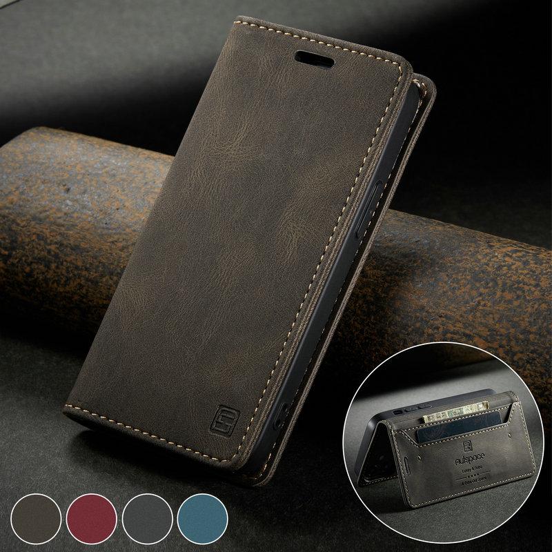 CaseMe 2020 Flip Case For iPhone 12 min Retro Magnetic Wallet For iPhone 11 Pro X s Max 6 7 8 Plus S