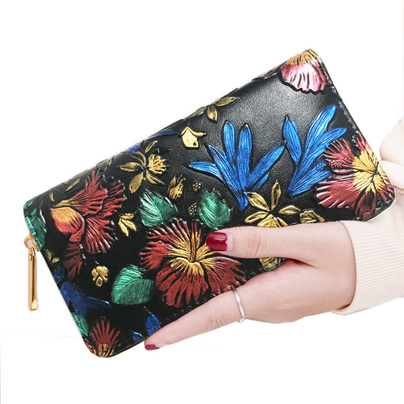 Fashion Color Embossing Wallet Women PU Leather Luxury Card Holder Clutch Casual Female Purse For Lo