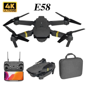 E58 WIFI FPV Drone With Wide Angle HD 4K Camera Hight Hold Mode Foldable Arm RC Quadcopter Dron