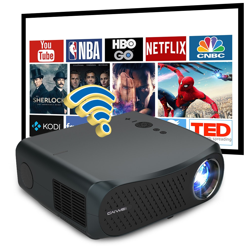 Video Projector 4K Home Cinema LED Full HD 1920 x 1080P Smart Phone 7200 Lumens Airplay Home Theater