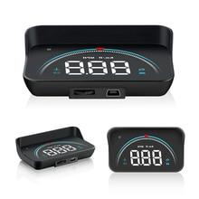 Car HUD Head up display Auto Electronics Voltage Alarm OBD2 II EUOBD Overspeed Security Alarm windsh
