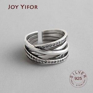 Женское Открытое кольцо из серебра 100% пробы, в Корейском стиле