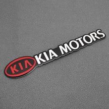 Badge autocollant de voiture en métal 3D   1 pièce, Badge demblème chromé pour KIA Cerato Sportage R K2 K3 K5, accessoires Sorento Sportage R Rio Soul