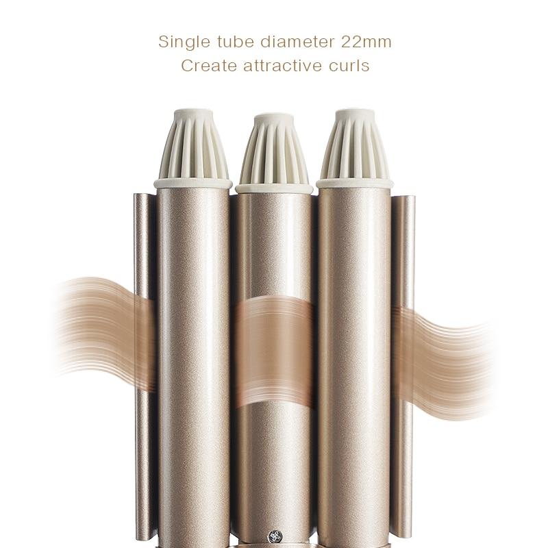 Professional Curling Iron Ceramic Triple Barrel Hair Styler Hair Waver Styling Tools 110-220V Hair C