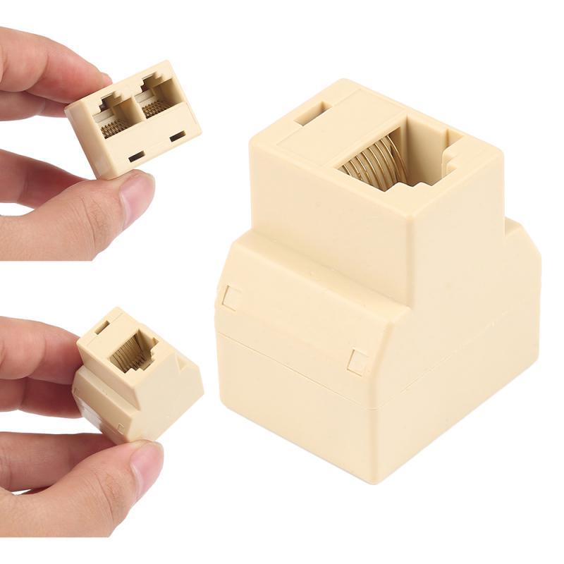 RJ45 Splitter Adapter 1 To 2 LAN Ethernet Network Connector Ethernet Splitter Adapter Socket 3 Ports Cable Computer Connector