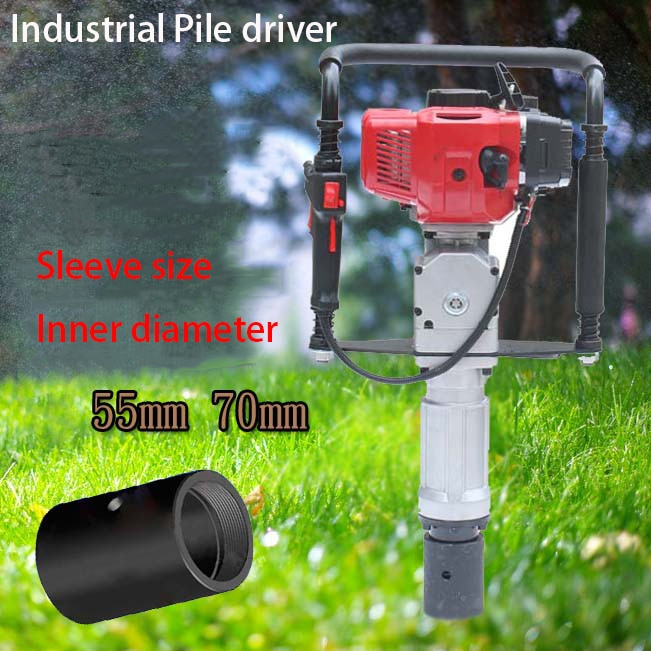 High power Electric impact Farm guardrail building foundation orchard Wood pile Angle steel Small gasoline Power Pile driver enlarge