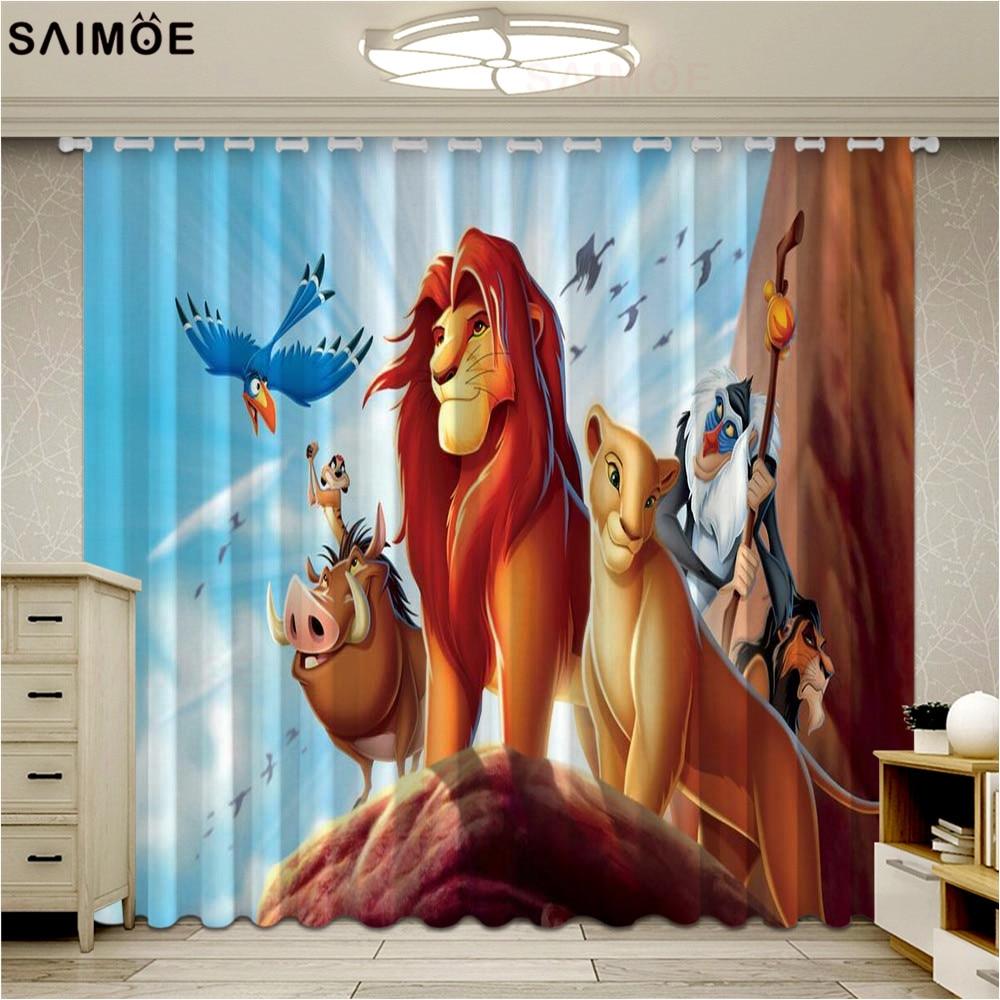 ستائر نوافذ من سلسلة Lion ، شهيرة ، لغرفة المعيشة ، غرفة نوم الأطفال ، معتمة ، أقمشة ريدو ، رفيعة للغاية