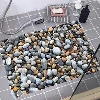 Autocollants de sol imitation pave  sparadrap muraux impermeables pour salle de bains  salon  decoration de la maison