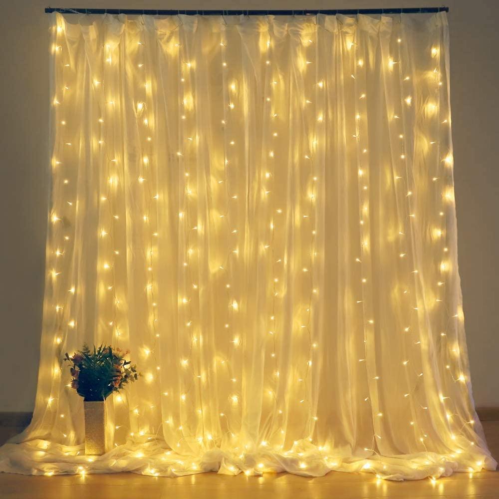 2x2 / 3x3 LED perdea șir de lumină, basm lumină cu ghirlandă de lumină de Crăciun LED pentru decor fereastră acasă