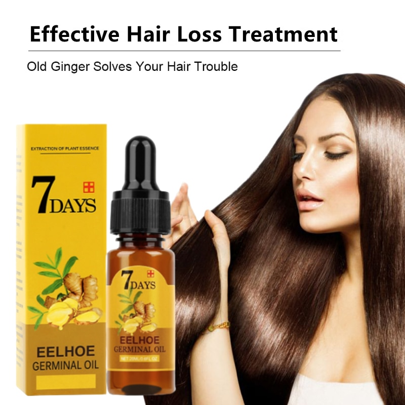 7 Day Hair Care Hair Growth Essential Oils Natural Ginger Essence Hair Loss Liquid Health Care Beaut