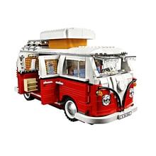 En Stock 1354 pièces voiture Bluding blocs Volkswagen T1 camping-Car bloc Compatible Lepinblock Technic idées 10220 briques jouets 21001