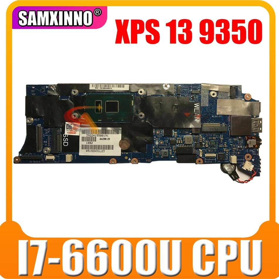 الأصلي اللوحة لابتوب ديل XPS 13 9350 I7-6600U اللوحة CN-0FK79N 0FK79N LA-C881P SR2F1 I7-6600U