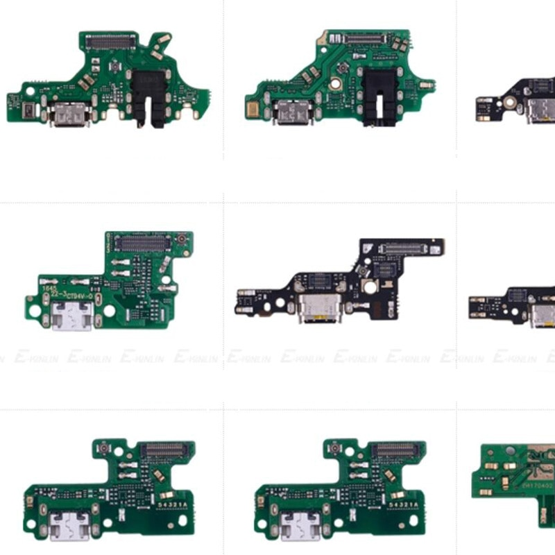 Puerto de carga conector piezas Cable flexible con micrófono Mic para HuaWei P30 P20 Pro P10 P9 Plus Mini P8 Lite 2017