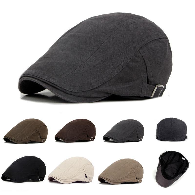 Los nuevos hombres sombrero de mujer boinas Ivy gorra de Golf de moda para conducir de algodón boinas gorras casuales visera gorra sombreros