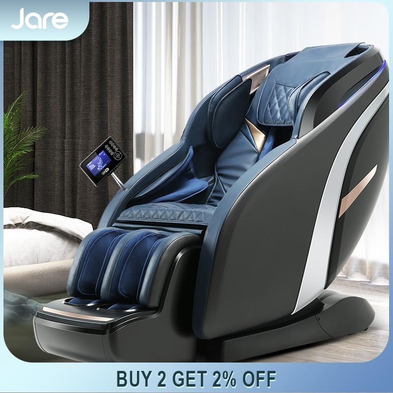 Jare A9 كرسي تدليك كهربائي 4D منعدم الجاذبية ، وسائد هوائية لكامل الجسم ، مسار SL ، بيع بالجملة