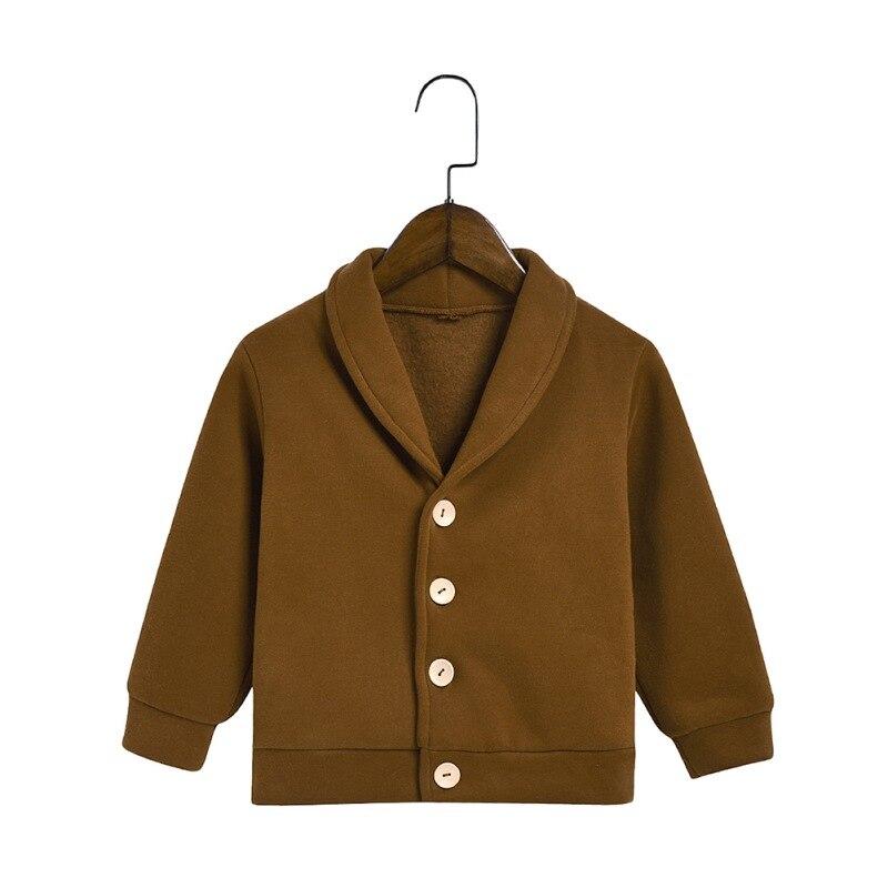 Осенне зимнее пальто для малышей куртка плащ в Корейском стиле плотная теплая на