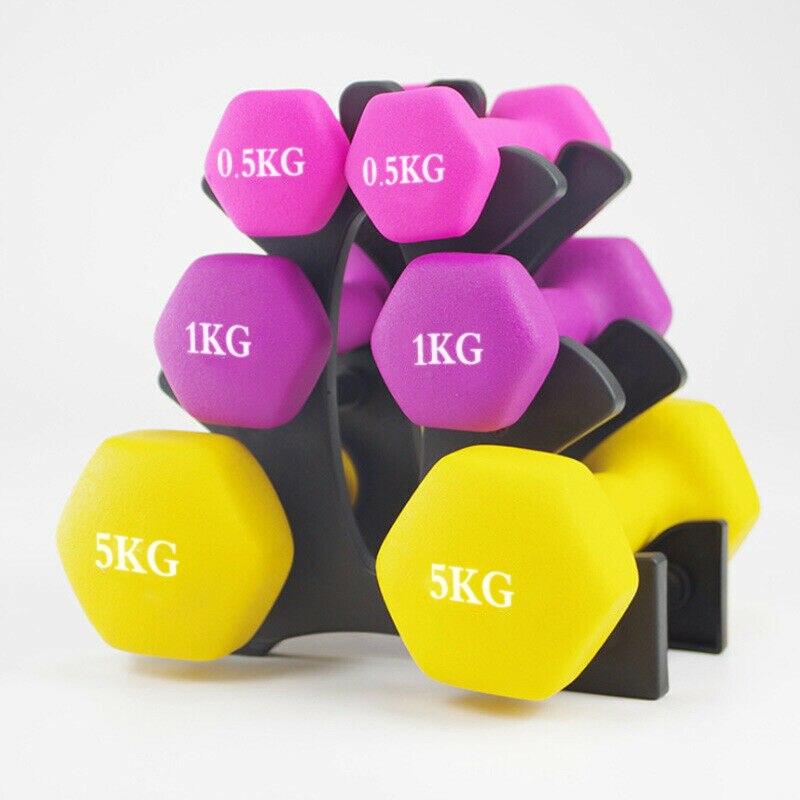 2 uds. De pesas de 10kg para pesas, Conjunto de pesas sólidas para Fitness, mancuernas DE SEGURIDAD antideslizantes, mancuernas para gimnasio, herramientas de entrenamiento para ejercicios