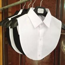 Women Cotton Lace Fake Collar Blouse Vintage Detachable Shirt Collar False Collar Lapel Blouse Top W