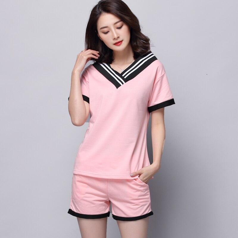 Conjunto de pijamas de verano para mujer, ropa de dormir corta con fresas, ropa cómoda para el hogar para niñas