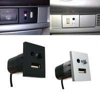 Автомобильный AUX/USB вход адаптер мини кабель USB разъем Интерфейс переключатель для Ford Focus 2 mk2 2009 2010 2011 аксессуары