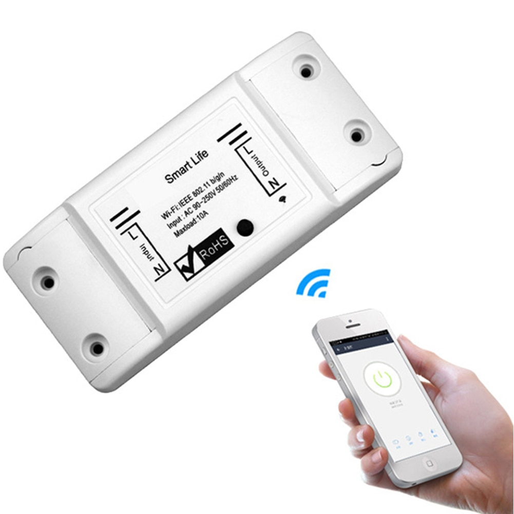 Universal Breaker Timer Smart Life APP Wireless Remote Control Works with Google Home DIY WiFi Smart Switch for Home Office Dorm
