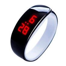 Zegarki damskie męskie Casual sportowe bransoletki z zegarkiem białe LED elektroniczne cyfrowe cukierki kolor silikonowy zegarek na rękę dla dzieci dzieci