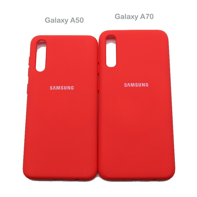 Samsung Galaxy A50 Liquid Silicone Case Soft Silky Shell Cover For Galaxy a50 a70 2019 A505 A505F SM-A505F 6.4''