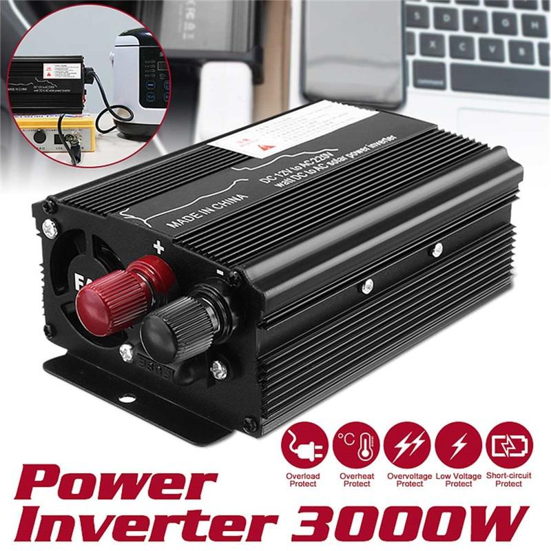 محول جهد السيارة 12 فولت/24 فولت ، 220 فولت ، 3000 واط ، محول جهد USB ، تيار مستمر 12 فولت/24 فولت إلى تيار متردد 220 فولت ، محول طاقة شمسية للسيارة