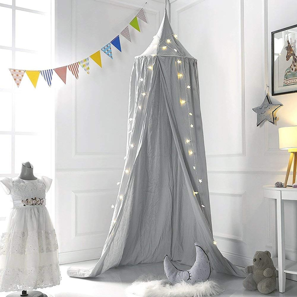 Baby Bed Mosquito Net Kids Bedding Decor Round Dome Hanging Bed Canopy Curtain Children Baby Room Decoration Crib Netting Tent